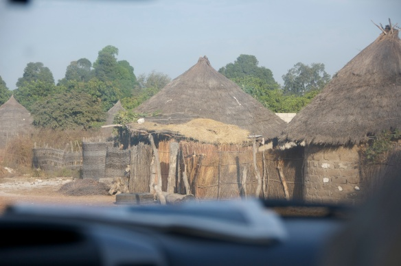 A typical hut in a Senegalese village