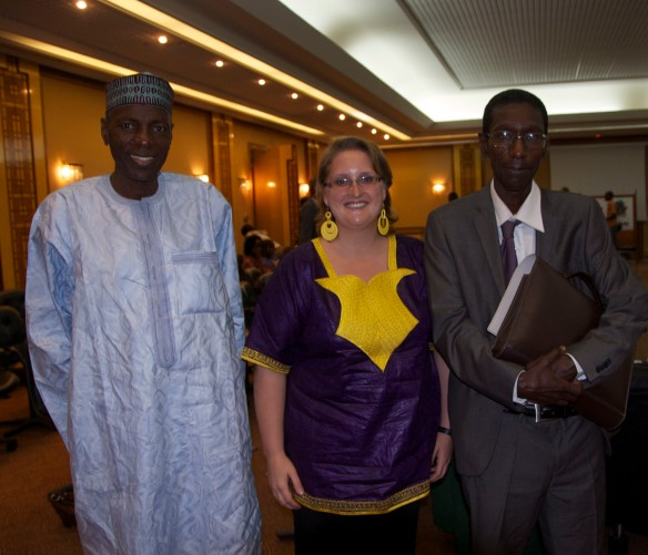 Amadou Ly (L), Mamadou Ba (R) and me - Two of Senegal's literary experts and professors at UCAD