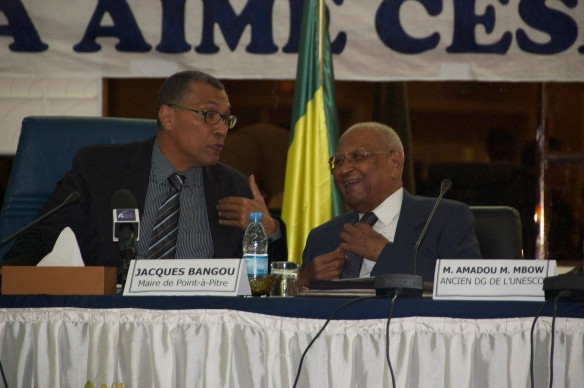 Jacques Bangou and Amadou Mahtar Mbow - Mayor of Point-de-Pitre and former Director General of UNESCO