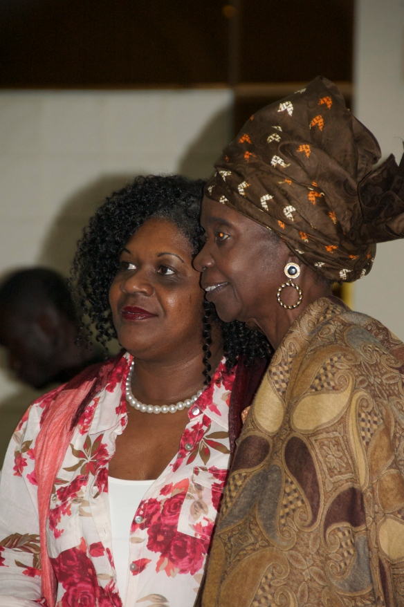 Aminata Sow Fall (R) and Monique Blérald - One of Senegal's most respected author and first black African woman to both publish a novel and win an international writing award