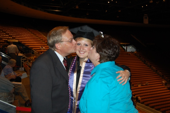 With Mom and Dad at my BYU graduation - 2007