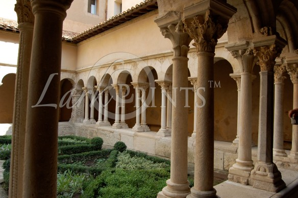 The columns in the 14th century cathedral cloister.  This type of double-columned colonnade is rare, and the capitals of the columns are all different.  Everything here was hand carved!  True artistic and architectural treasures!